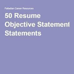 College resume objective statement examples